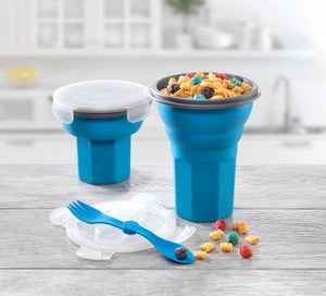 Collapsible Cereal Container