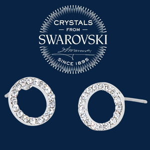 Swarovski Crystal Circle Post Earrings