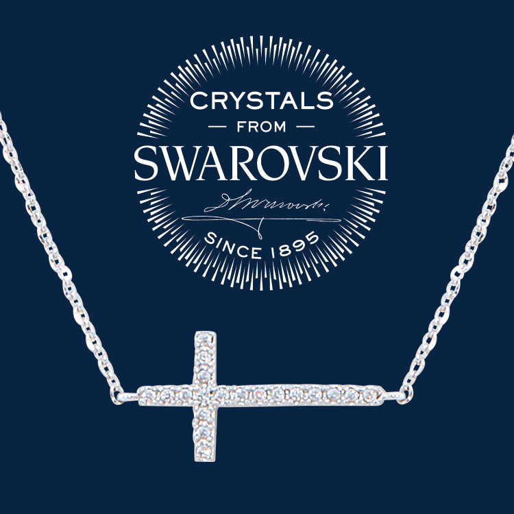 Swarovski Crystal Cross Necklace