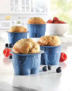 Blue Jean Muffin Popover Baking Cups