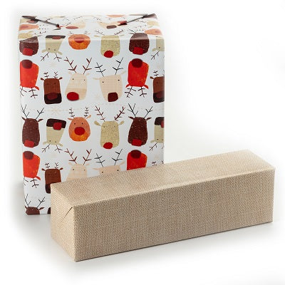 Reindeer Thumbprint Jumbo Reversible Roll Wrap