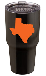 BLACK WITH ORANGE TEXAS 30 oz. TUMBLER