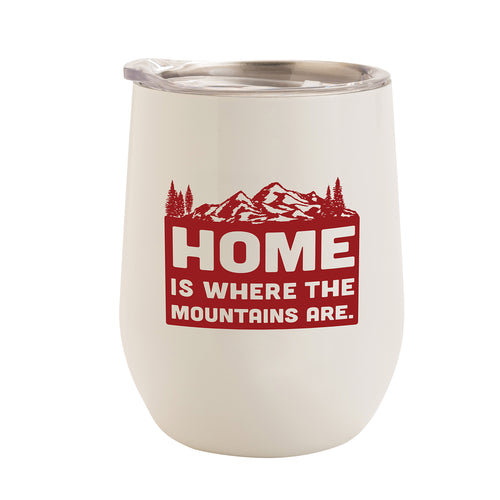 WHITE WITH RED MOUNTAINS HOME 12 oz. TUMBLER