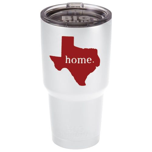 WHITE WITH RED TEXAS HOME 30 oz. TUMBLER