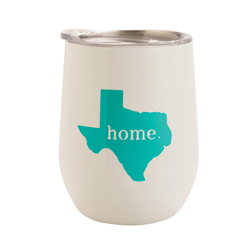 WHITE WITH SEA FOAM TEXAS HOME 12 oz. TUMBLER