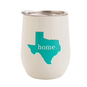 White Texas Home 12 oz Tumbler