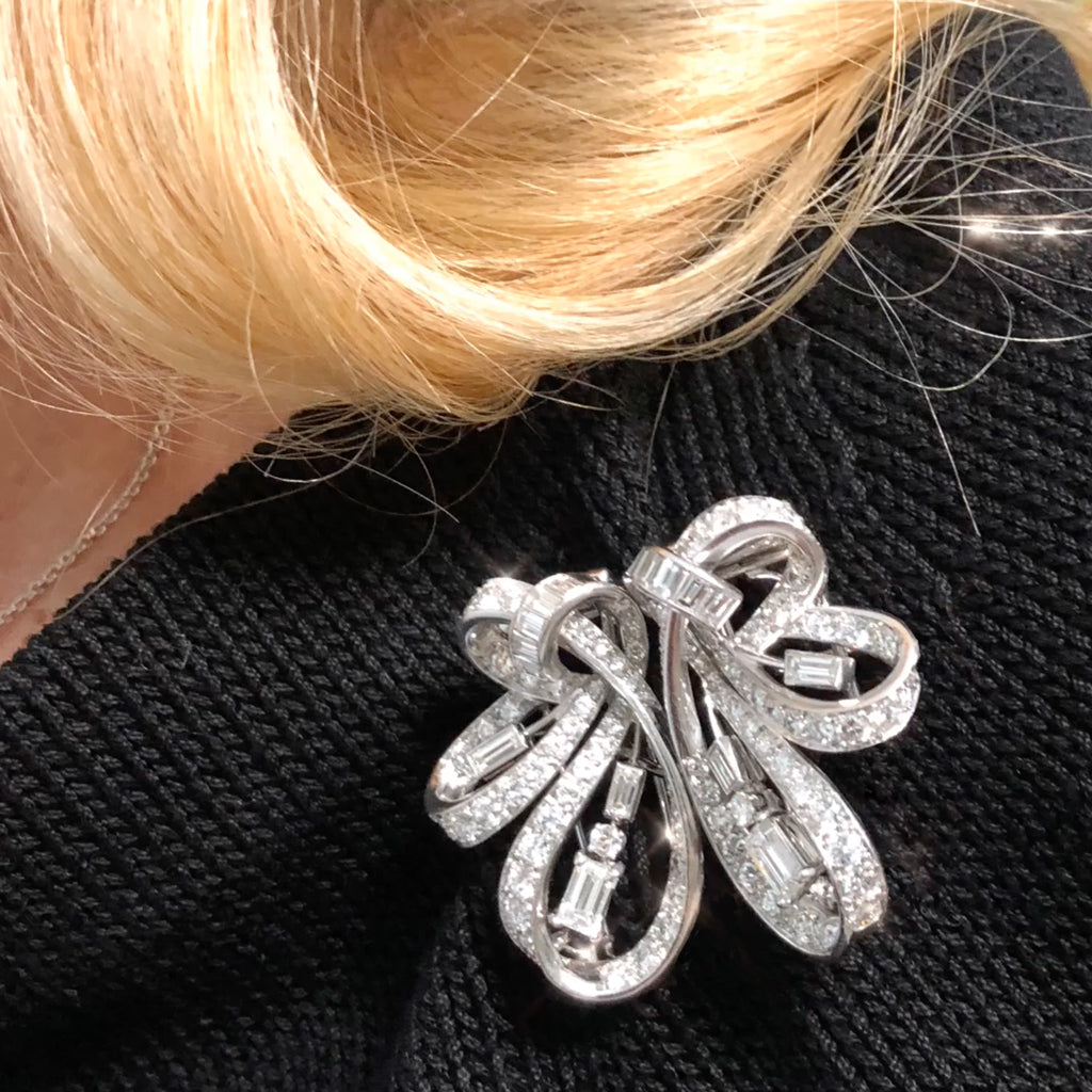 8.50 Carat Diamonds Double Clips/Brooch in Platinum and Gold, circa 1940