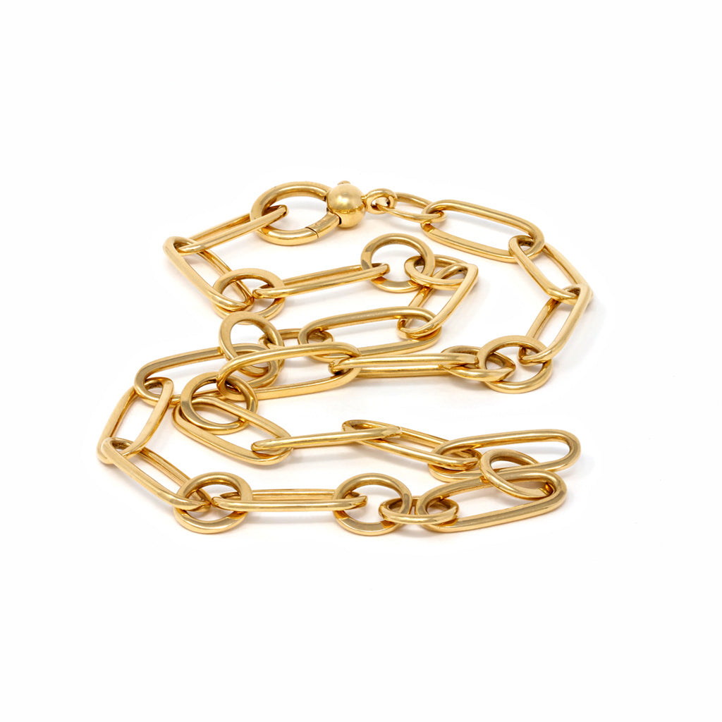 Pomellato Chain Link Necklace in 18 Karat Yellow Gold random view