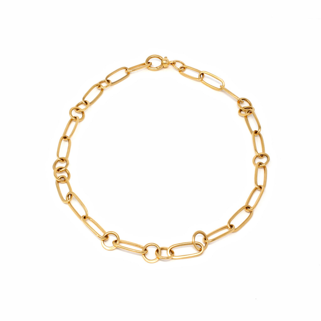 Pomellato Chain Link Necklace in 18 Karat Yellow Gold top view