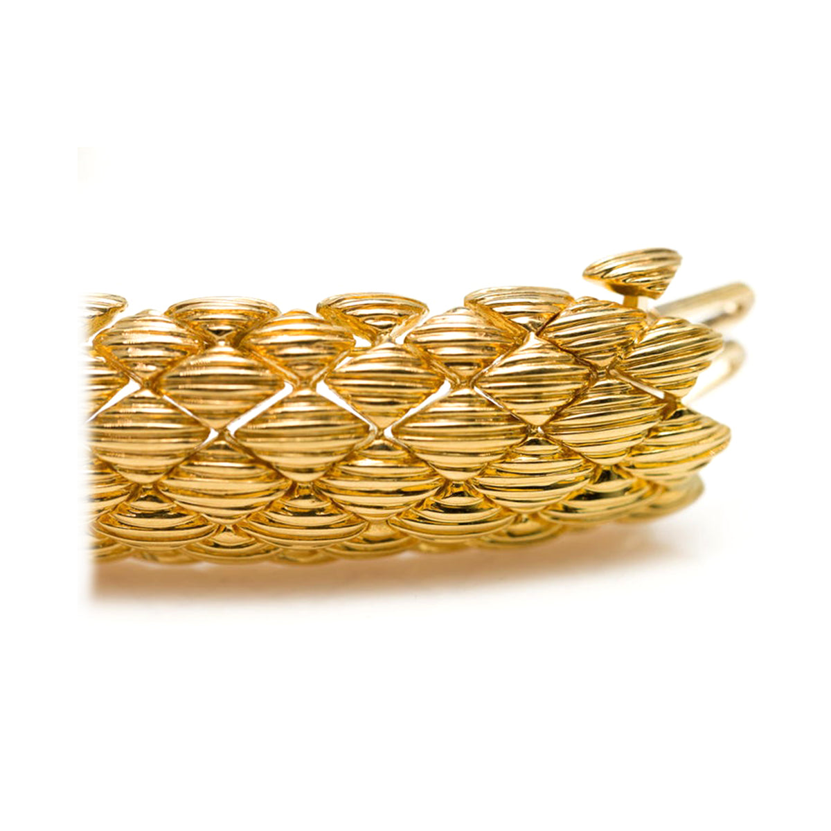 David Webb Navette Link 18k Yellow Gold Bracelet