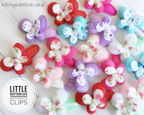 Little Butterflies sing baby non-slip clip- 6 colours to choose from!