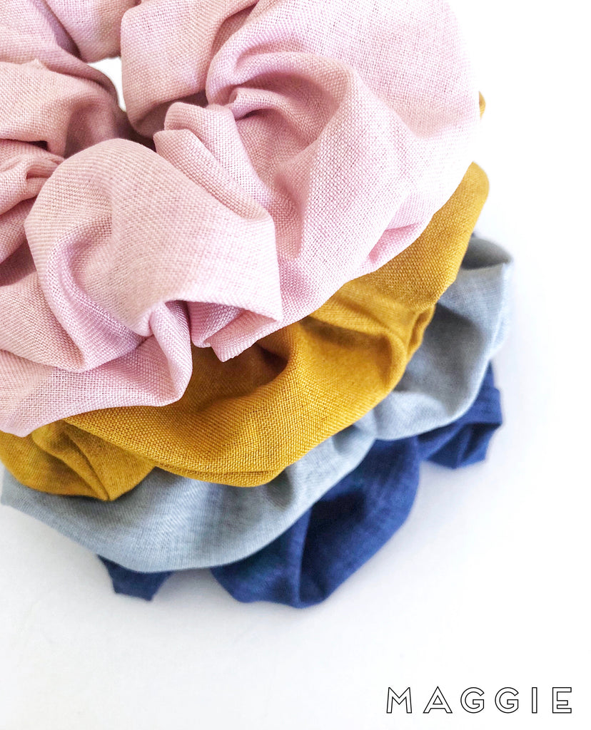 Maggie scrunchies- 4 colours to choose from!