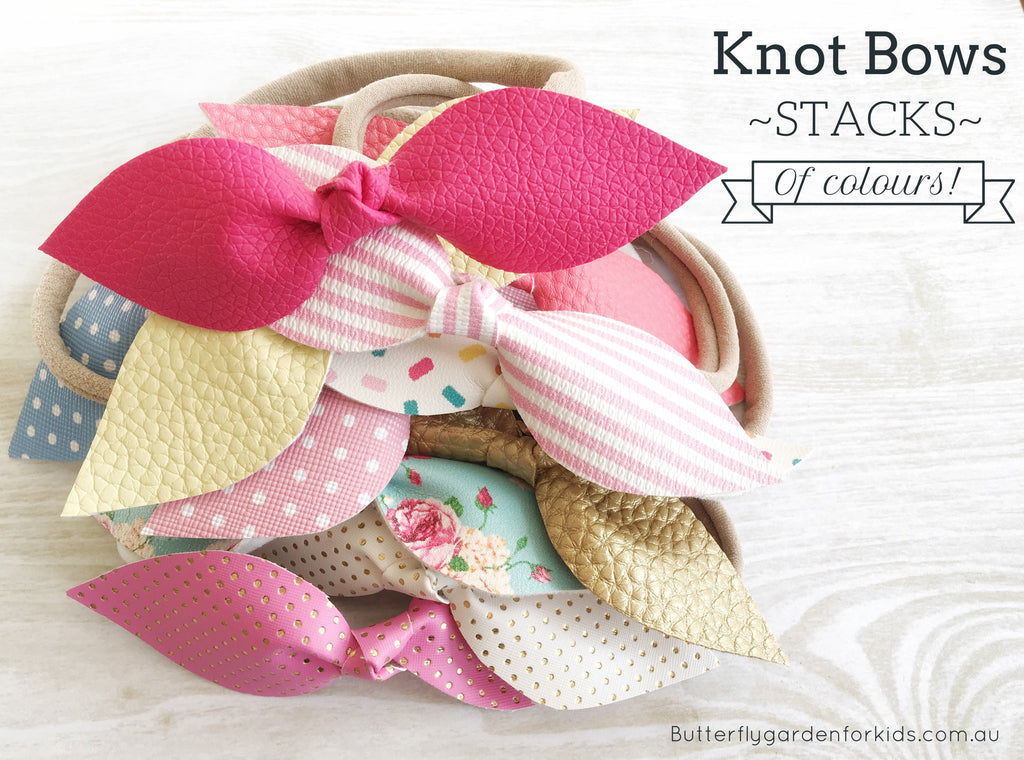 Knot bows - in lots of colours!