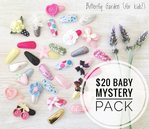Mystery Pack $20 Butterfly Garden Baby hair clips