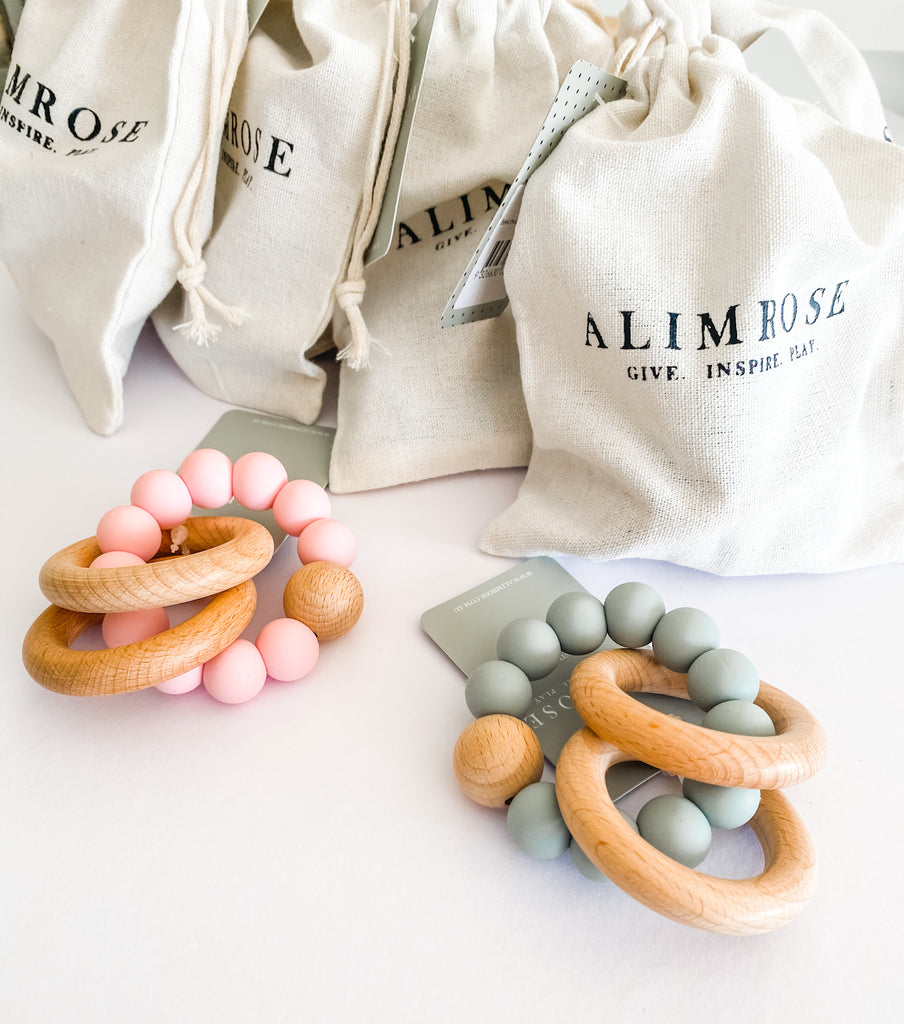 Alimrose Beechwood Teether rings- 2 colours