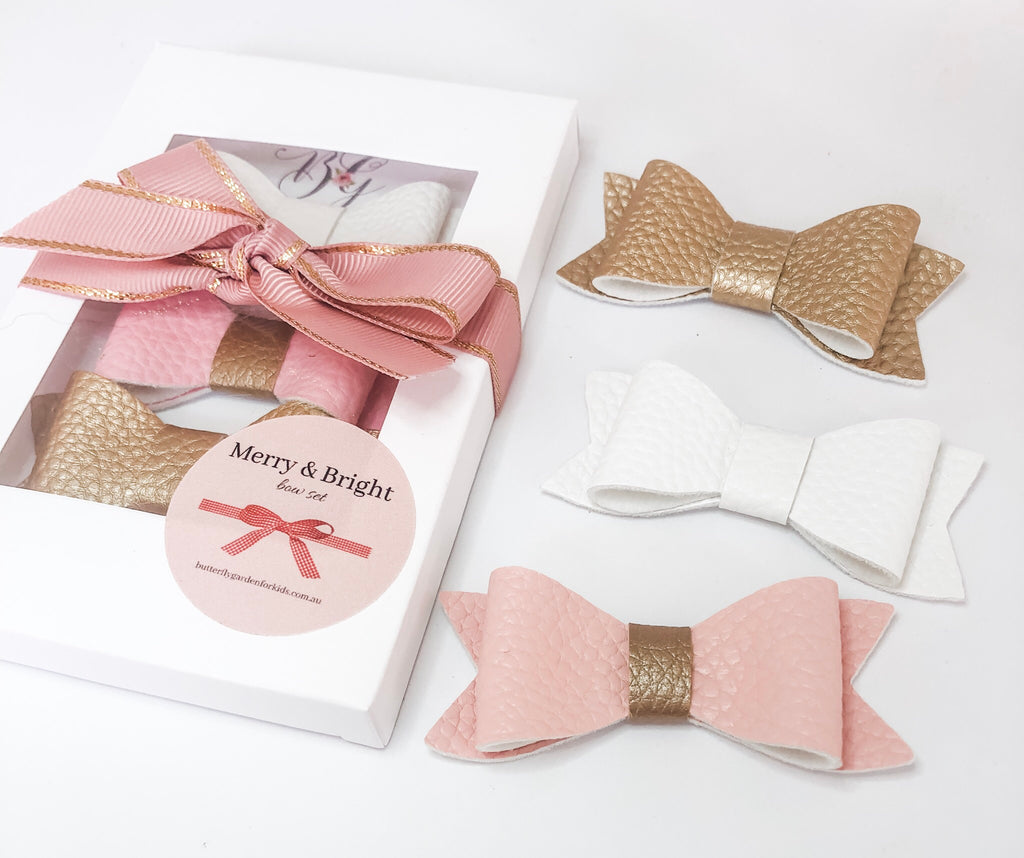 Merry & Bright 'Classic' Pack - Christmas bow gift packs