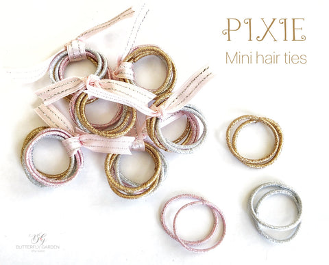 Pixie mini hair ties - set of 6!