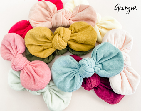 Georgia soft bows- 10 colours to choose from!