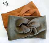 Lilly Twist knit headbands- 4 colours!