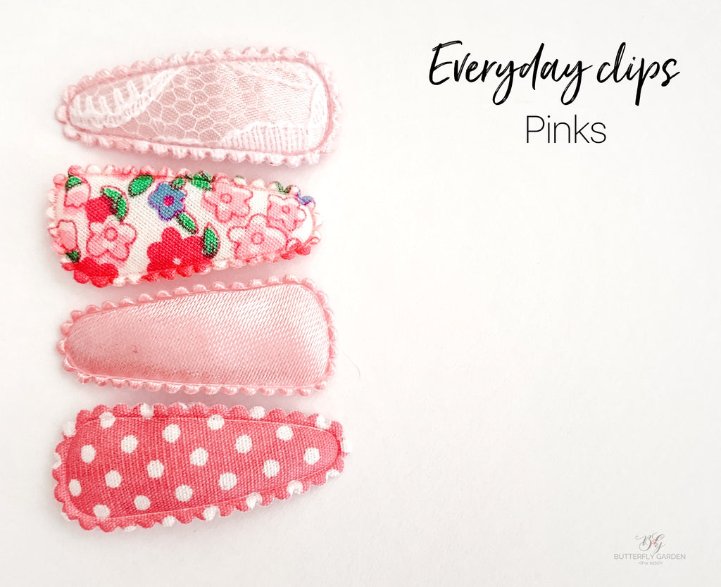 Everyday Baby nonslip clip sets : Pinks