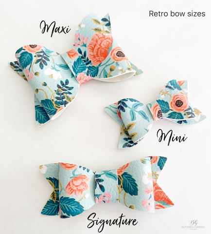 Retro bow hair clips- 3 sizes & lots of colours to choose from !