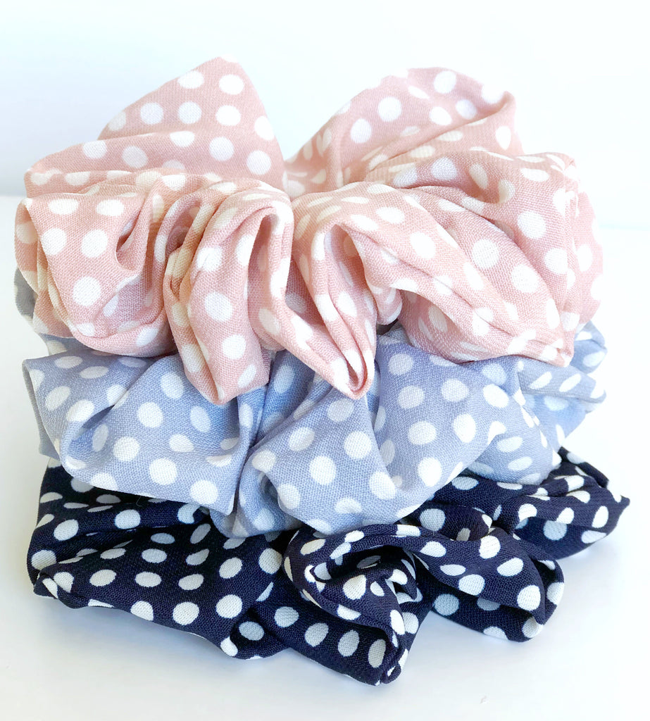 Dotty Scrunchies -3 colours to choose from