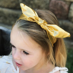 Knot metallic headbands