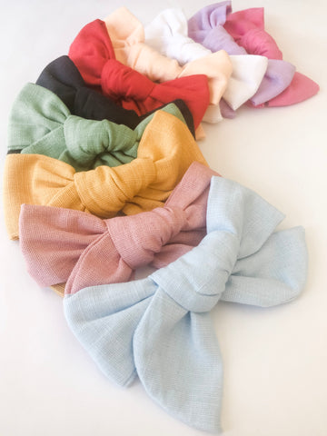 Zoe Chunky Bows- 11 colours to choose from!