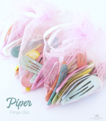 Piper - set of 20 Fringe clips