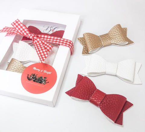 Merry & Bright 'Festive' Pack - Christmas bow gift packs