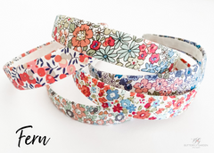 Fern solid headbands- choose your print!