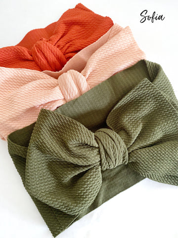Sofia Big Bow Headwrap