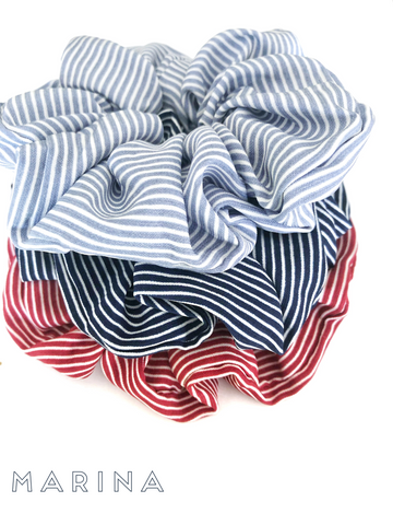 Marina scrunchies- 4 colours to choose from!