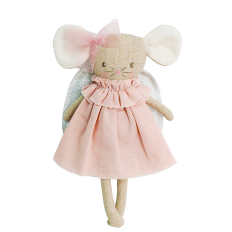 Alimrose Angel Baby Mouse 25cm pink silver