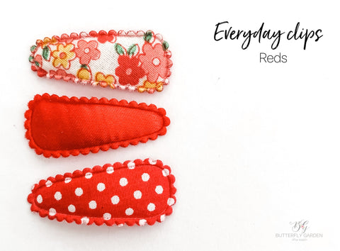 Everyday Baby nonslip clip sets : Reds