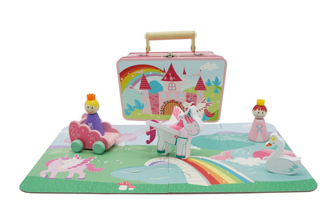 Unicorn playset in carry tin