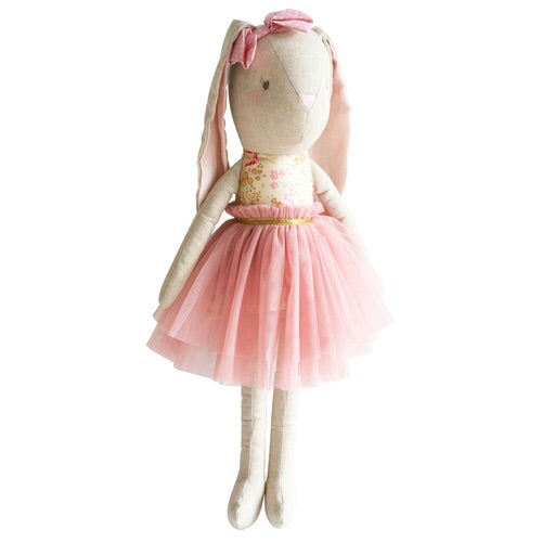 Alimrose linen pearl large doll cuddle bunny  55cm blush