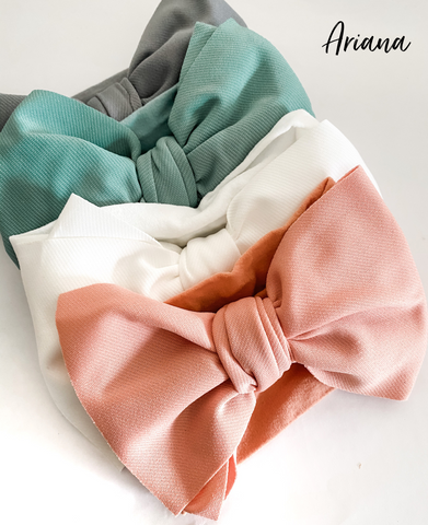 Ariana Big Bow Headwrap - 13 colours