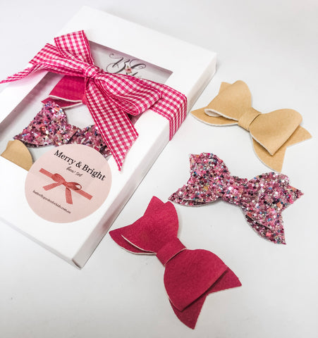 Merry & Bright 'Party' Pack - Christmas bow gift packs