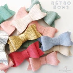 Retro bow hair clips- lots of colours to choose from !