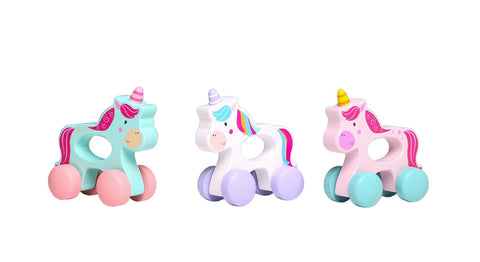 Wooden unicorn on wheels - 3 colours to choose from!