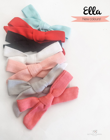 Ella Bows- 6 colours to choose from!