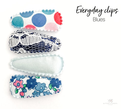 Everyday Baby nonslip clip sets : Blues