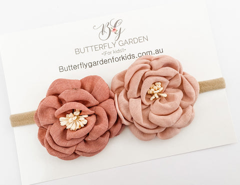 Dahlia limited edition headband - Blush