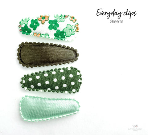 Everyday Baby nonslip clip sets : Greens