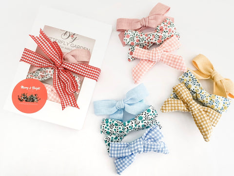 Merry & Bright 'Berry Drops' Pack - Christmas bow gift packs- 3 colour choices!