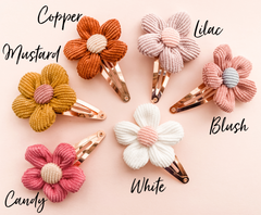 Clara snap clips- 6 sweet colours to choose from!