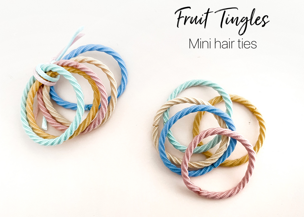 Fruit Tingles mini hair ties - set of 5