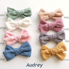 Audrey corduroy bows- 8 gorgeous colours!