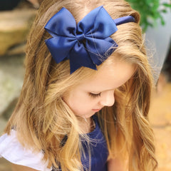 Billie- solid headband bow